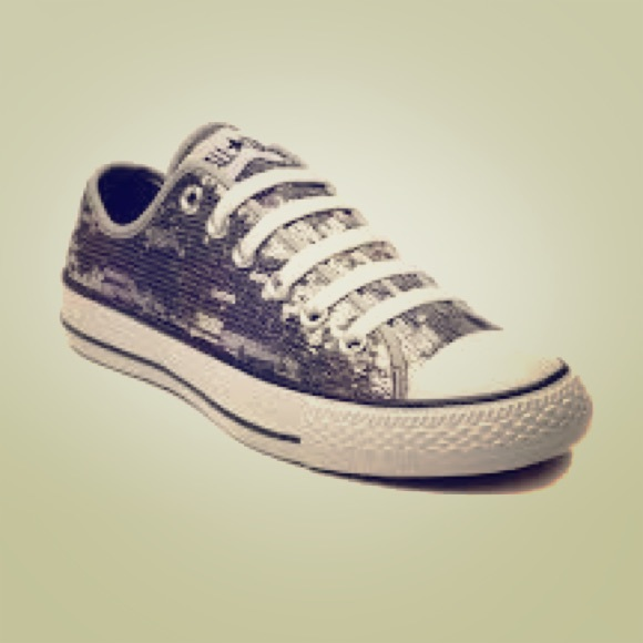 67538f043330 Converse Shoes - Converse all-star black sequin classic chucks